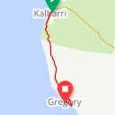 Map image of a Route from October  9, 2017