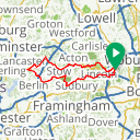 Map image of a Route from May 31, 2013