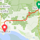 Map image of a Route from October 10, 2017
