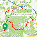 Map image of a Route from October 13, 2017