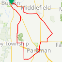 Map image of a Route from June  2, 2013