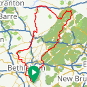 Map image of a Route from October 15, 2017