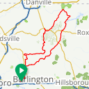 Map image of a Route from October 19, 2017