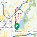 Map image of a Route from October 21, 2017