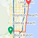 Map image of a Route from June  5, 2013