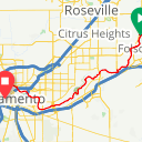 Map image of a Route from October 25, 2017