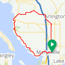 Map image of a Route from October 27, 2017