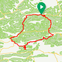 Map image of a Route from October 28, 2017