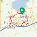 Map image of a Route from October 29, 2017