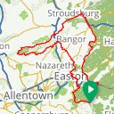 Map image of a Route from October 31, 2017