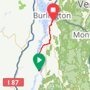 Map image of a Route from November  5, 2017