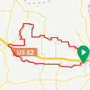 Map image of a Route from November  6, 2017