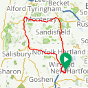 Map image of a Route from June  7, 2013
