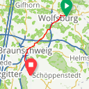 Map image of a Route from November 11, 2017