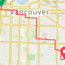 Map image of a Route from November 12, 2017