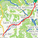 Map image of a Route from November 15, 2017