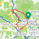 Map image of a Route from November 16, 2017