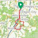 Map image of a Route from November 21, 2017