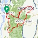 Map image of a Route from November 22, 2017