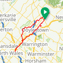 Map image of a Route from November 24, 2017