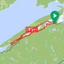 Map image of a Route from November 26, 2017