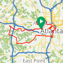 Map image of a Route from November 27, 2017