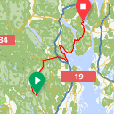 Map image of a Route from November 30, 2017