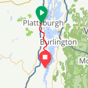 Map image of a Route from December  5, 2017