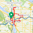 Map image of a Route from June  9, 2013