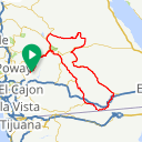 Map image of a Route from December 12, 2017