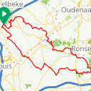 Map image of a Route from December 19, 2017