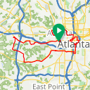 Map image of a Route from December 21, 2017