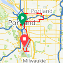 Map image of a Route from December 24, 2017