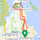 Map image of a Route from December 26, 2017