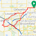 Map image of a Route from December 30, 2017