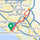 Map image of a Route from January  1, 2018