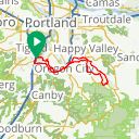 Map image of a Route from January  2, 2018