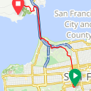 Map image of a Route from January  3, 2018