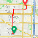 Map image of a Route from January  6, 2018