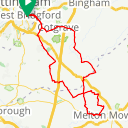 Map image of a Route from January  9, 2018
