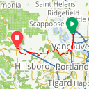 Map image of a Route from January 10, 2018