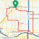 Map image of a Route from January 12, 2018