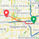 Map image of a Route from January 13, 2018