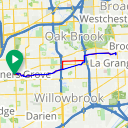 Map image of a Route from January 14, 2018