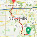 Map image of a Route from January 17, 2018