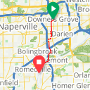 Map image of a Route from January 18, 2018