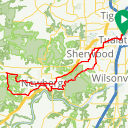 Map image of a Route from January 19, 2018
