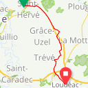 Map image of a Route from January 21, 2018