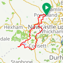 Map image of a Route from January 25, 2018