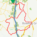 Map image of a Route from January 26, 2018